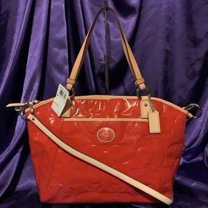 🌺 COACH F20028 🌺 PEYTON EMBOSSED PATENT LEATHER
